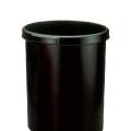 Coș de birou pentru hârtii, 18 litri, HELIT Ergologic - negru