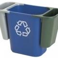 Coș de birou cu separator pentru reciclare, 13 litri, VEPA BINS - albastru